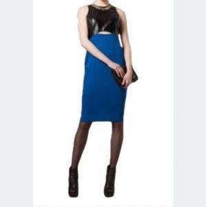 River Island Blue Black  Bodycon Dress